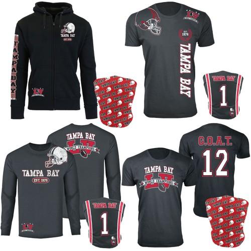 Men's Tampa Bay Football Champions Shirts w/ Gaiter