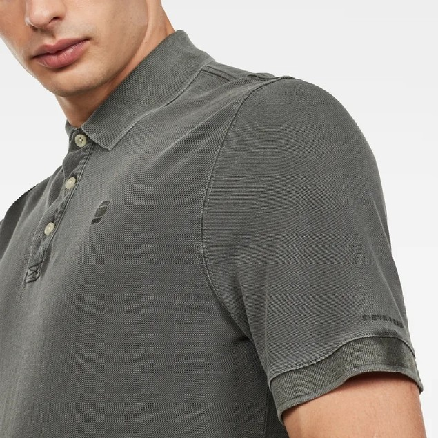 G-Star Raw Men's Halite Polo Shirt Olive Size Medium