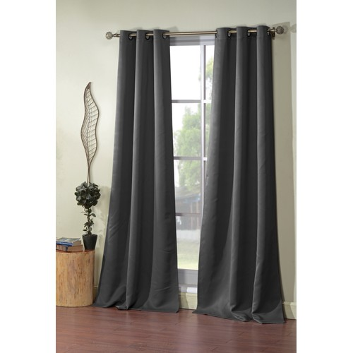 Triple-Layer Grommet Curtain Pair Panels (Set of 2)