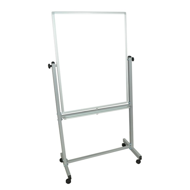 """Luxor Mobile 30""""W x 40""""H Dry Erase Double-Sided Magnetic Whiteboard"""