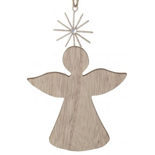Hanging Wooden Angel 14cm