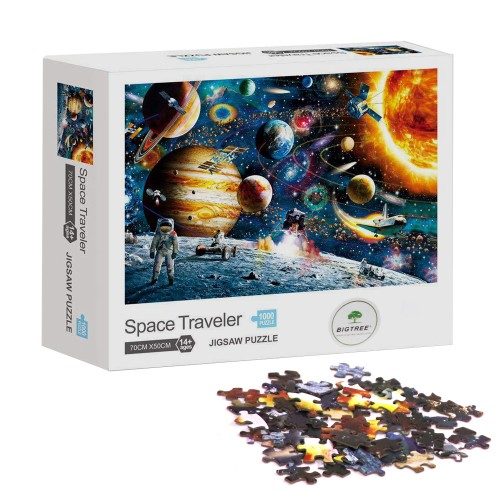 Space Traveler Galaxy Classic Oil Paintings 1000 Pieces Jigsaw Puzzle Gift Home Decoration