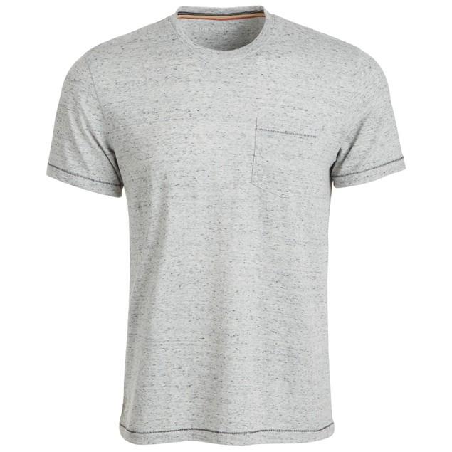 Sun + Stone Men's Blair Contrast Neck Stitch T-Shirt  White Size Large