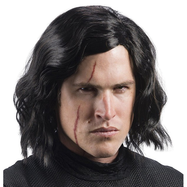 Adult Kylo Ren The Last Jedi Kit With Wig and Scar