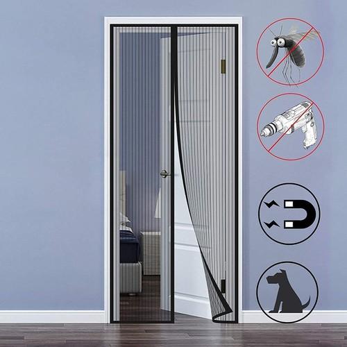 Hands-Free Magnetic Screen Door Mesh Net Mosquito Insect Bug Door Curtain