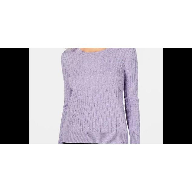 Karen Scott  Women's Cable Knit Sweater Blue Size X-Large