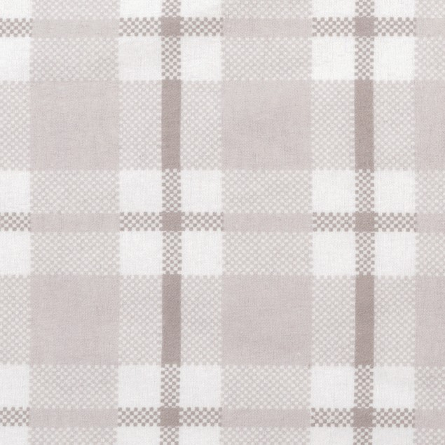 Trend Lab Gray and White Plaid Deluxe Flannel Kids Crib Sheet