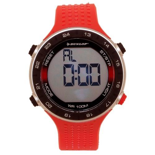 Dunlop Vision DUN200G07 Plastic Black Case Rubber Mineral Men´s Quartz Watch
