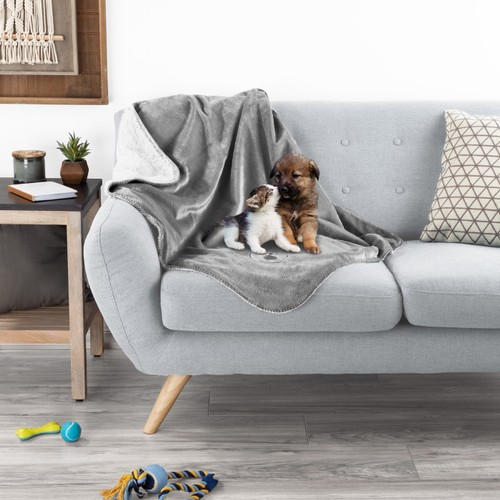Waterproof Pet Blanket  40inx30in Plush Lap Throw Protects Couch