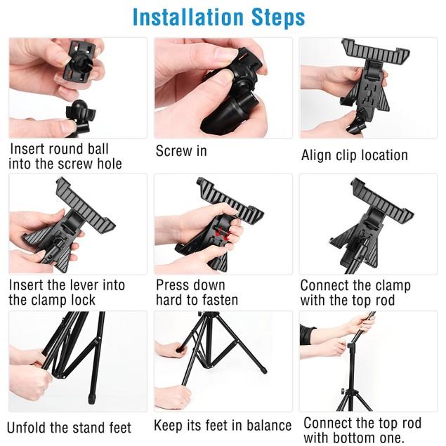 """Tablet Mount 360° Rotating Tablet Holder 59""""Adjustable"""