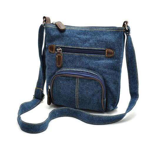 Casual Tannin Front Pocket One-Shoulder Diagonal Handbag