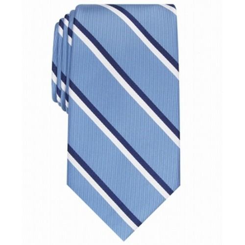 Club Room Men's Beacon Striped Tie Light Blue One Size