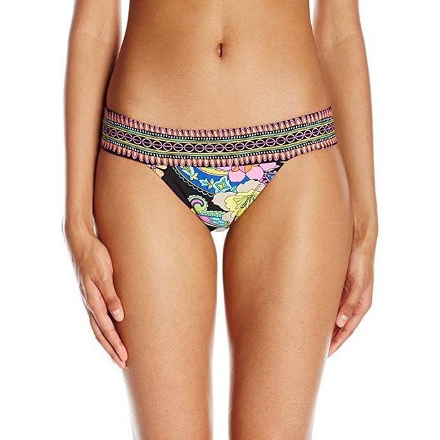 Trina Turk Women's Monaco Banded Brazillian Hipster Bikini Bottom SZ: 6