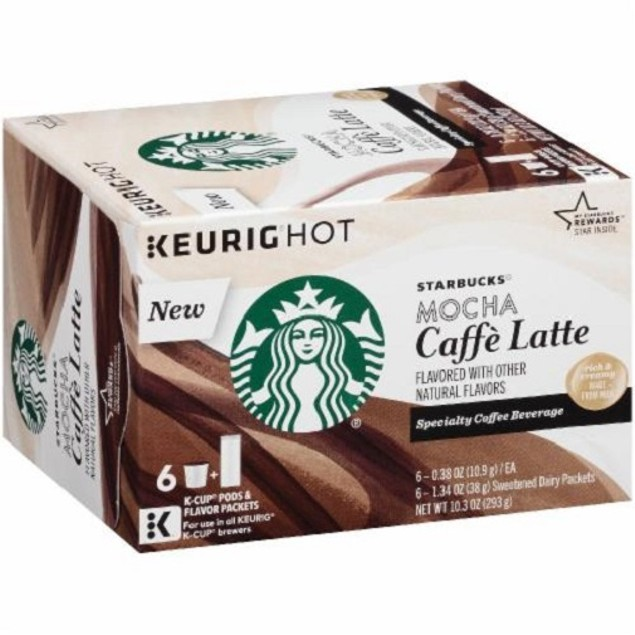 Starbucks Mocha Caffe Latte Keurig K-Cups 2 Box Pack