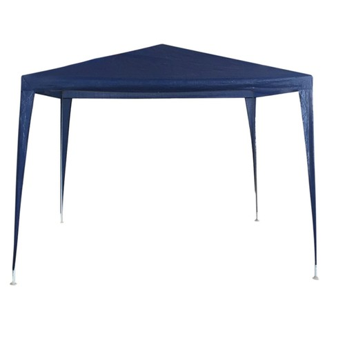 Blue Outdoor Gazebo - 10FT X 10FT Folding PE Gazebo Canopy Tent