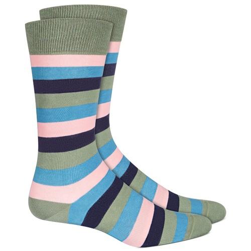 Bar III Men's Striped Socks  Blue Size Regular