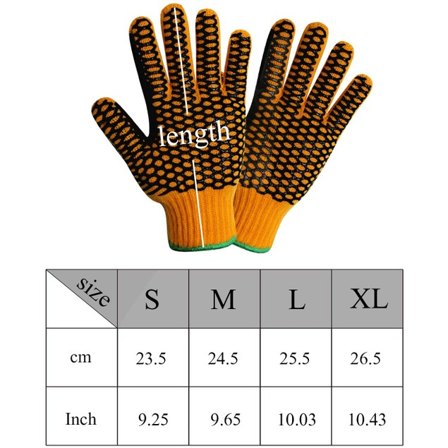 EvridWear Cut/Heat Resistant Double Layer Knitted Work Warehouse Gloves
