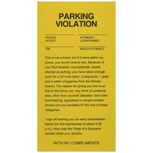 Parking Tickets Fake Joke Gag Car Driving 25 Tickets per Bag Funny Prank