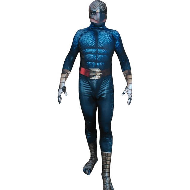 Birdman Adult Costume Michael Keaton Movie Superhero Body Suit Riggan Lycra