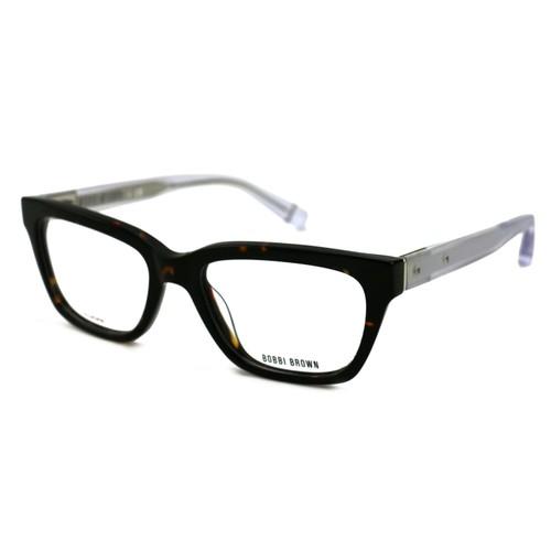 Bobbi Brown Women's Eyeglasses FD8 PD23 Havana/Crystal 52 17 135 without case