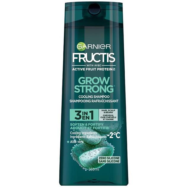 Garnier Grow Strong 3 In 1 Hair, Scalp & Beard Shampoo Fortifying Shampoo,