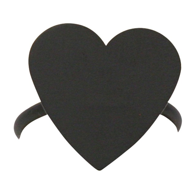 Village Wrought Iron Heart  Metal Coated - Napkin Ring