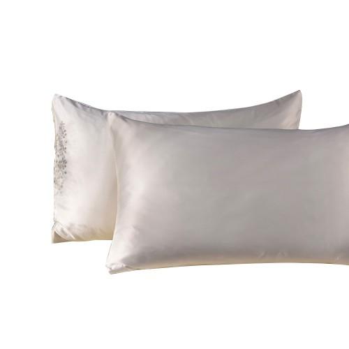 "2-Pack 20""x30"" Slip Silk Pillowcase Breathable Hypoallergenic"