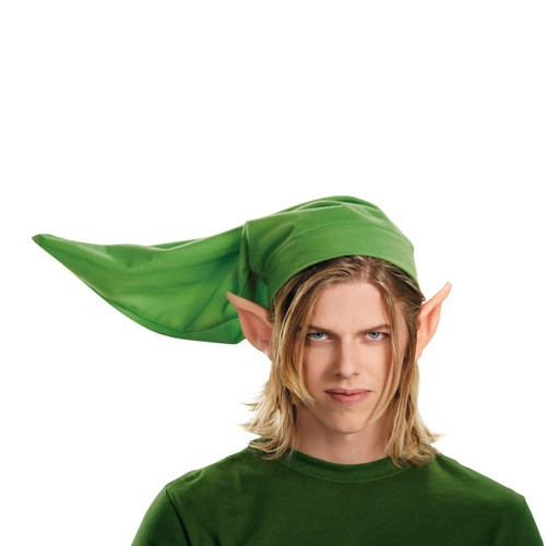 Link Adult Kit Legend Of Zelda Licensed Costume Mens Hat Vinyly Ears Green