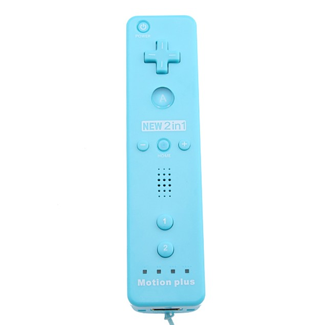 Built-in Motion Plus Remote+Nunchuck Controller+Silicone Case+Wrist Strap