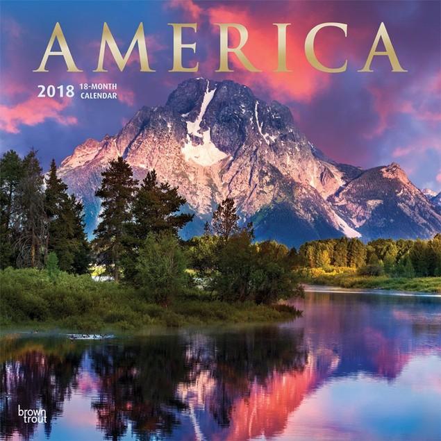 America Wall Calendar, Scenic America by Calendars