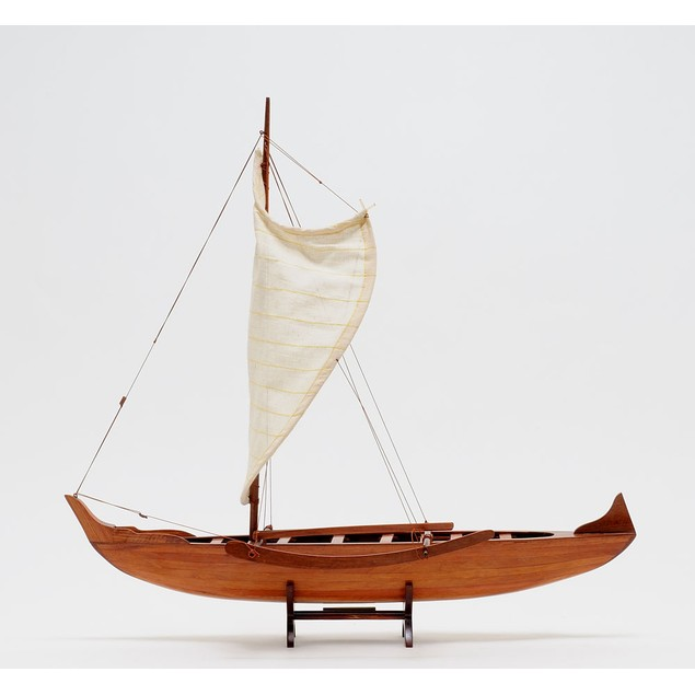 Old Modern Handicrafts Hawaiian Canoe Model