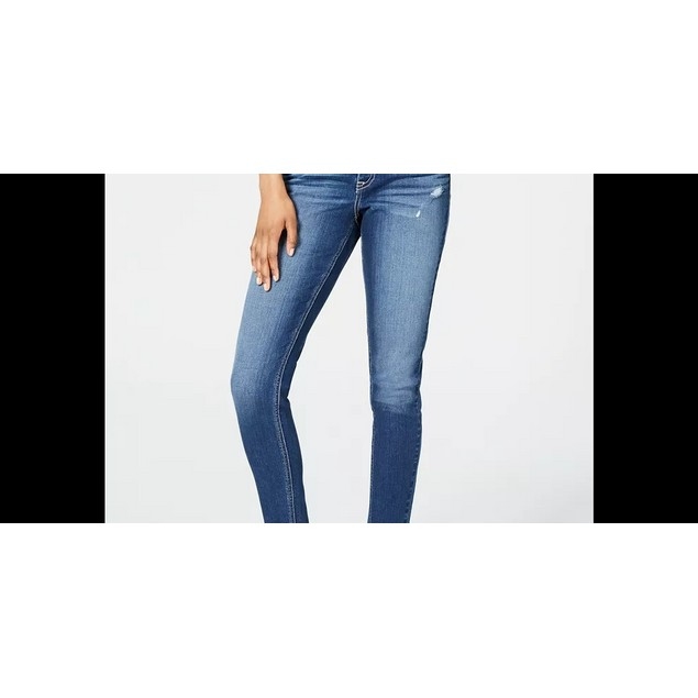 American Rag Junior's Ripped Button Fly Skinny Jeans Blue Size 5