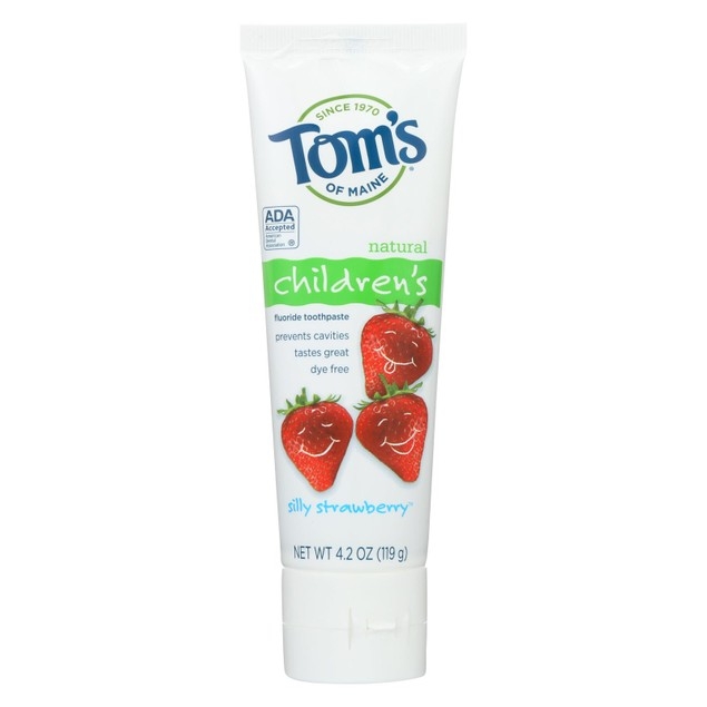 Tom's of Maine Children's Natural Fluoride Toothpaste Silly Strawberry -
