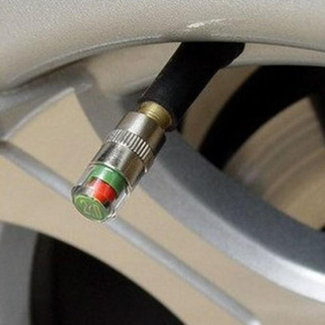4-Pack Tire Pressure Valve Caps