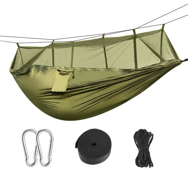 600lbs Load 2 Persons Hammock w/Mosquito Net Outdoor Hiking Camping Hommock