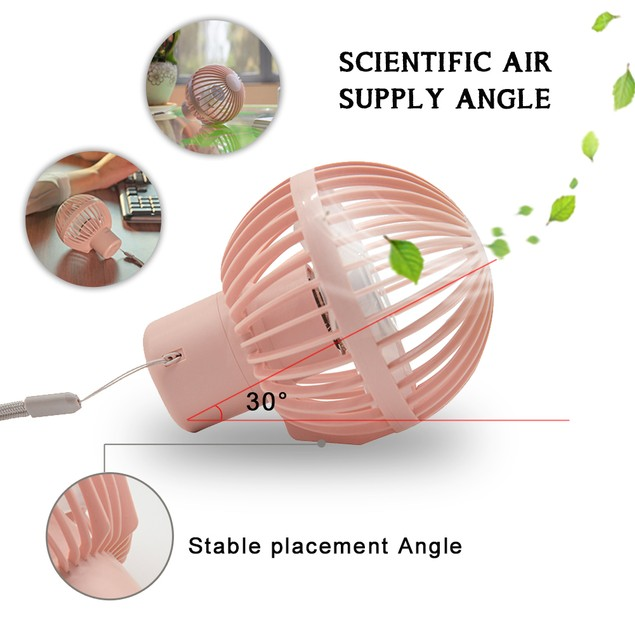 Portable Mini Handheld Fan for Office Room Outdoor Traveling Camping, Pink