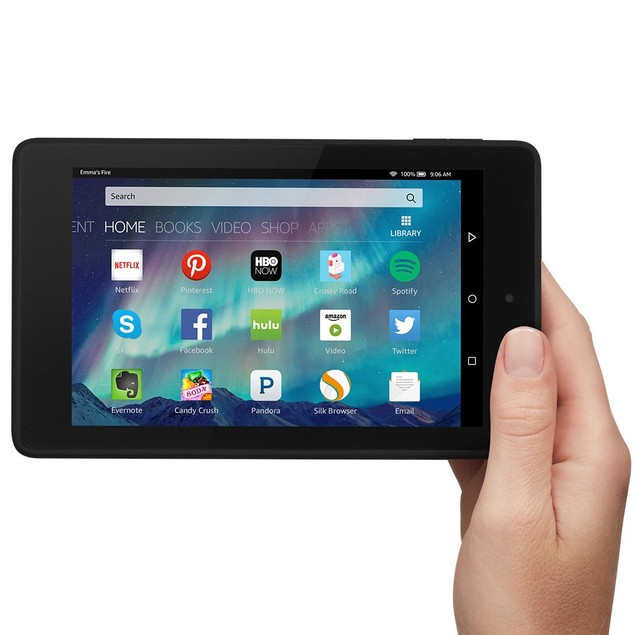Amazon Kindle Fire HD 6 Tablet (Black, Wi-Fi, 16GB)