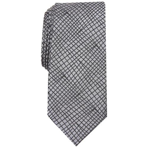 Alfani Men's Slim Abstract Tie Gray Size Regular