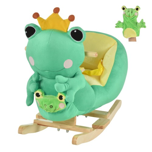 Indoor Childrens Swaying Frog Animal Chair Play Toy for Kids 18-36 Months