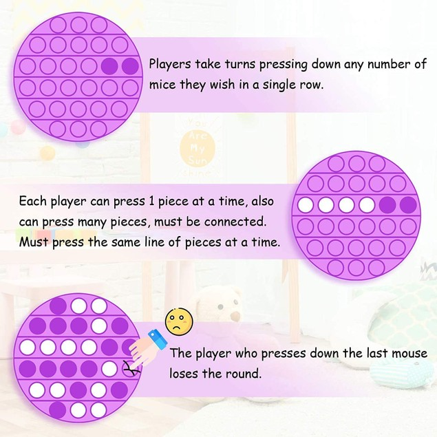 3-Pack Push pop Bubble Sensory Fidget Toy  Squeeze Sensory Toy for Kids and Adults