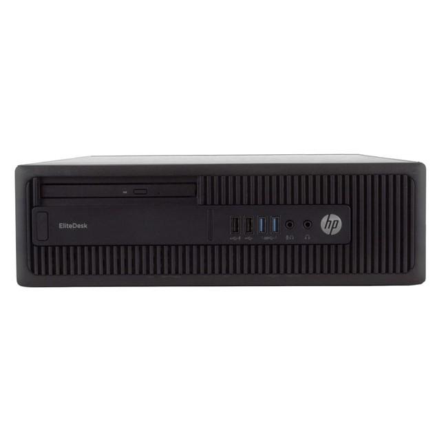 "HP 800G2 Desktop Intel i5 4GB 512GB SSD Windows 10 Home 24"" Monitor"