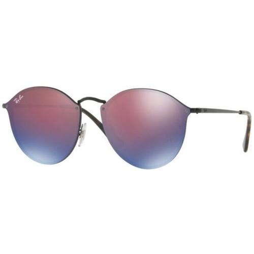 Ray-Ban Blaze Round Black Sunglasses RB3574N-153/7V-59