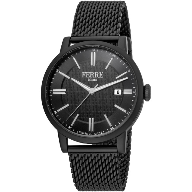 Ferre Milano Men's Classic Black Dial Watch - FM1G156M0071