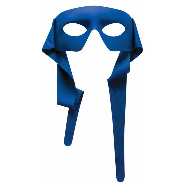 Blue Large Masked Man With Ties Eyemask Zorro Bandit Lone Ranger Costume