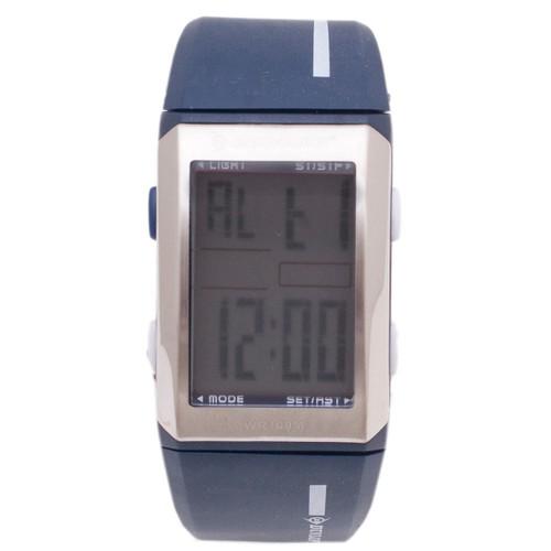 Dunlop Digital Watches for Girls DUN89L03 Silver/Blue Plastic Case Rubber Mineral Quartz Watches