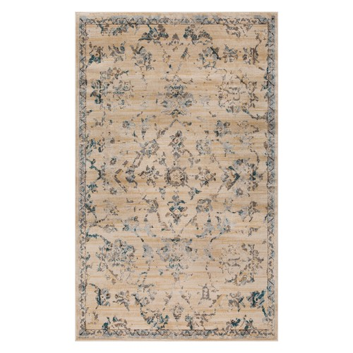Rustic Indoor Area Rug Collection, Textured Distressed Floral Vine Runner