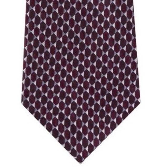 Michael Kors Men's Mirrored Circles Tie Red Size Regular