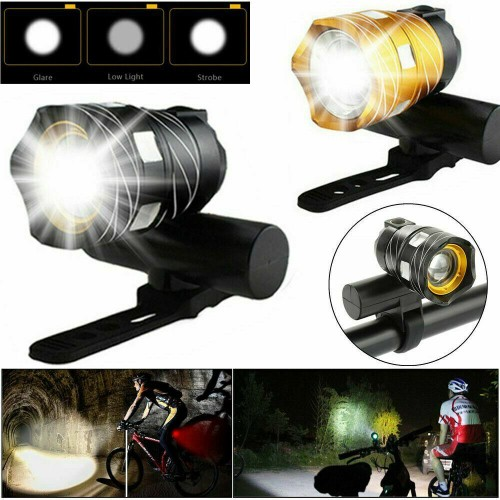 Rechargeable 15000LM XM-L T6 LED MTB Bicycle Light Bike Front Headlight USB