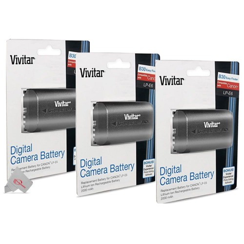 Three Packs Replacement Battery for Canon LP-E6