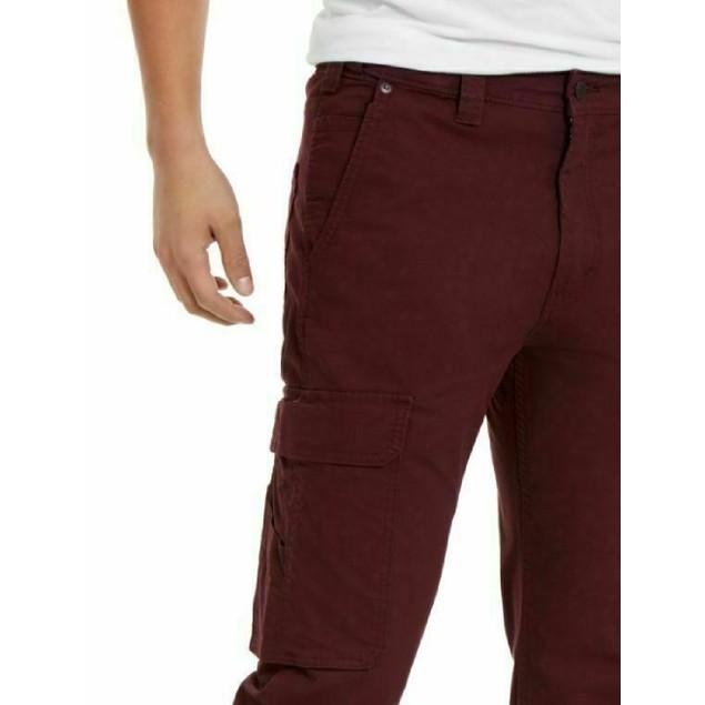 Levi's Men's 502 Aviator Tapered Cargo Pants Wine Size 33X32